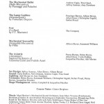 Cast List & Credits