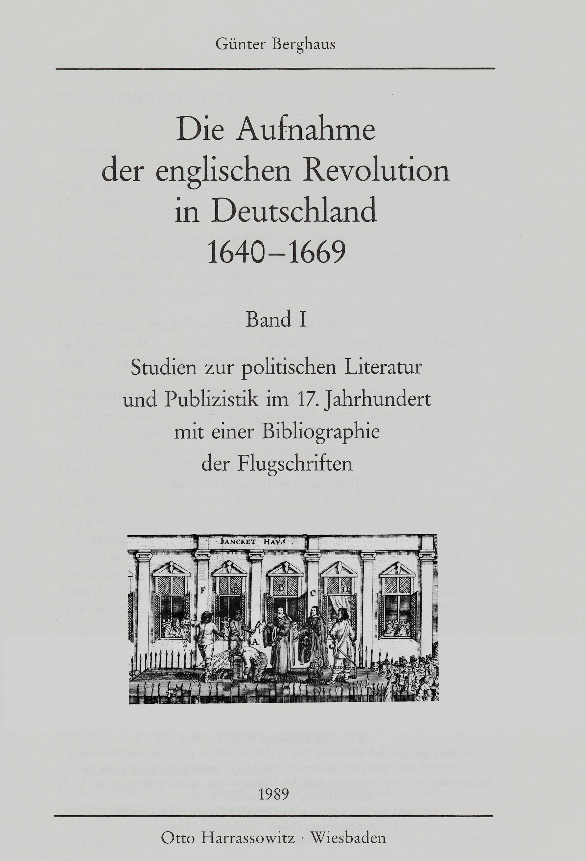 Die Aufnahme der Englischen Revolution in Deutschland