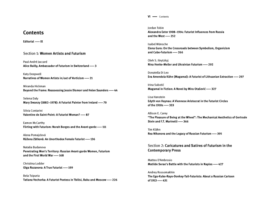 2015 Yearbook Table of Contents